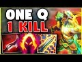 NEW LUNAR GUARDIAN NASUS ONE Q = ONE KILL! THIS NEW SKIN IS INSANE! - League of Legends