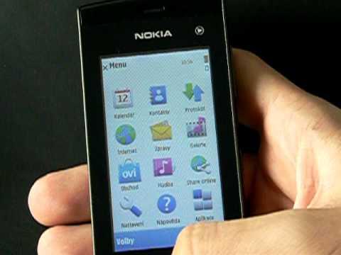 Nokia 5250 - prostředí Symbian S60