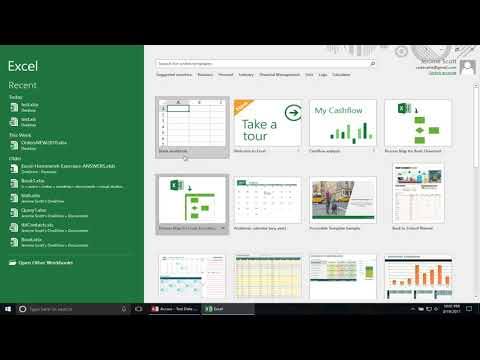 Linking Access Database Tables To An Excel Workbook