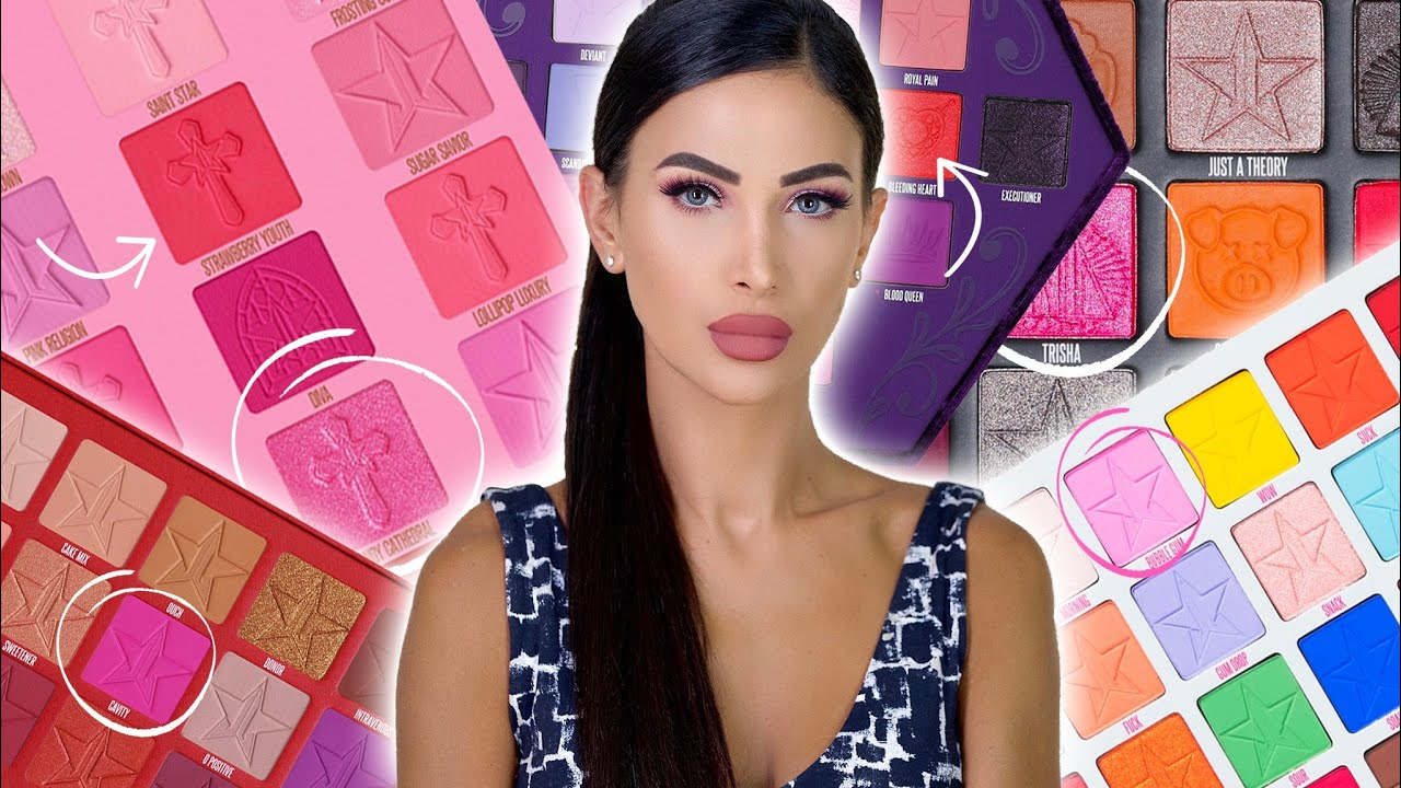 Download REPEAT SHADES??? Let's take a closer look at the JEFFREE STAR Pink Religion Palette