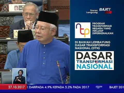 Bajet 2018 oleh Perdana Menteri Datuk Seri Najib Tun Razak