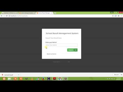 Student Result Management System Project In Php  Free Download