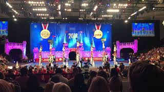 University of Hawaii Cheerleaders competing at the 2018 UCA Championship
