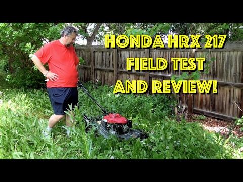 Honda HRX 217 Self-Propelled Gas Lawn Mower - Field Test & Review
