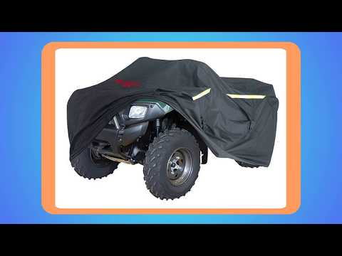 "Ultimate Heavy Duty ATV Cover Storage Bag LARGE 95/"" Long Zipper Tank Access From Outdoors All Weather Protection Industrial Grade Reflective Integrated Trailer System Waterproof"
