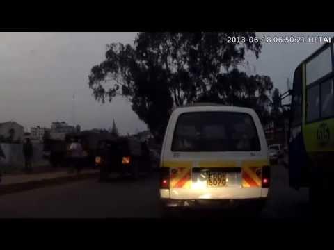 Police @ Globe roundabout leo katanuka - Dash cam