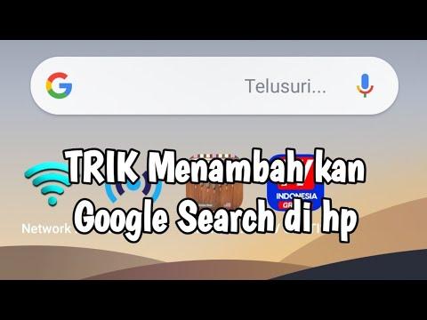 Inilah cara termudah menampilkan google search bar pada homescreen smartphon yg hilang www.tutorial8.