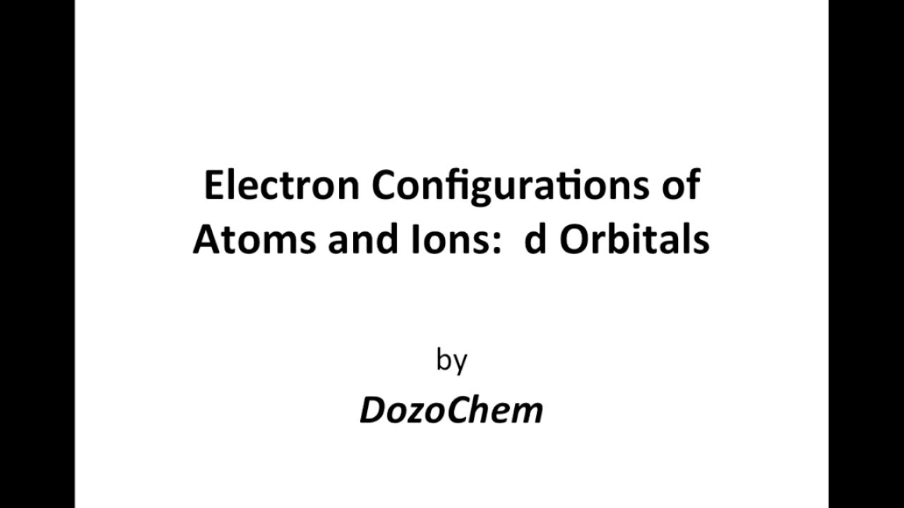 hight resolution of electron configurations of atoms and ions d orbitals