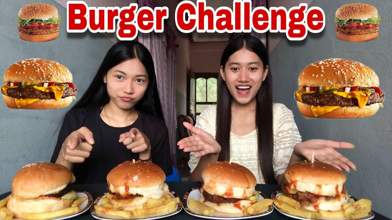 CHICKEN BURGER CHALLENGE🍔🍔|| NEPALI FOOD CHALLENGE😋😋|| Its me Aarati