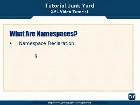 XML Tutorial   39 Introduction to Namespaces