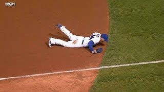 SF@CHC: Rizzo dives to rob Belt of a hit