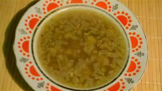 Суп с луком и картофелем.