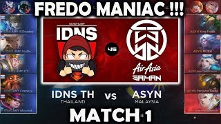 Fredo Maniac !!! ASYN vs IDNS TH MSL: Mobile Legends Season 1 - Week 1 Match 1