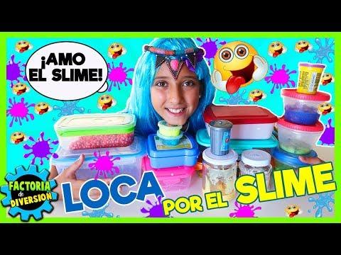 LOCA por el SLIME 🤪 Los MEJORES tipos de SLIME:de colores, purpurina, crunchy....