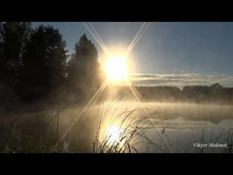 Восход солнца над озером. Релакс.