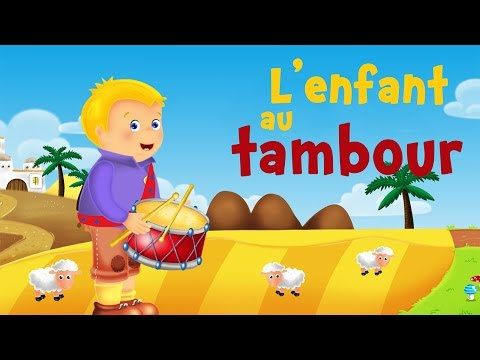The little drummer boy (christmas song for kids with lyrics to learn French)