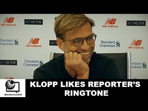 Klopp likes reporter's ringtone
