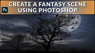 Create a Fantasy Winter Scene Using Compositing in Photoshop 2019.