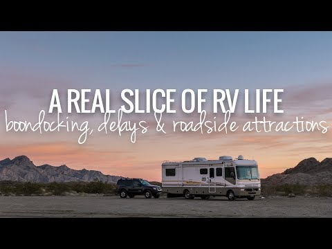 [RV Life & Travel] Heart of The Mojave Boondocking, Tire Trouble & Rice Shoe Fence [Ep125]