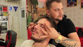ASMR Turkish Barber Face,Head and Body Massage 129 💆‍♂️👍💈💈