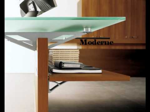 bureau verre et bois youtube. Black Bedroom Furniture Sets. Home Design Ideas