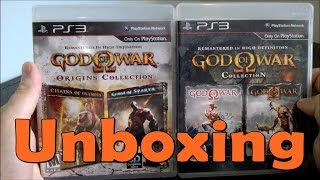 God of War Origins Collection / God of War Collection - PS3 - UNBOXING