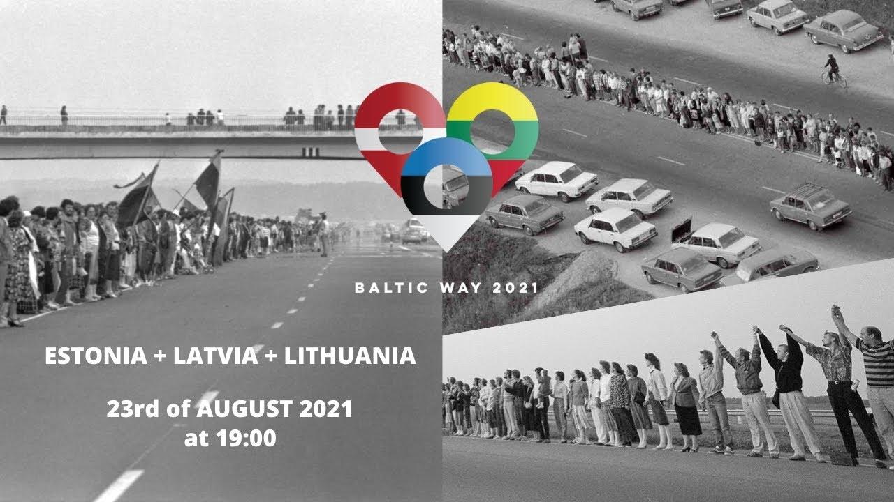 BALTIC WAY 2021, Balti kett 2021, Baltijas ceļš 2021, Baltijos kelyje 2021, Балтийский путь