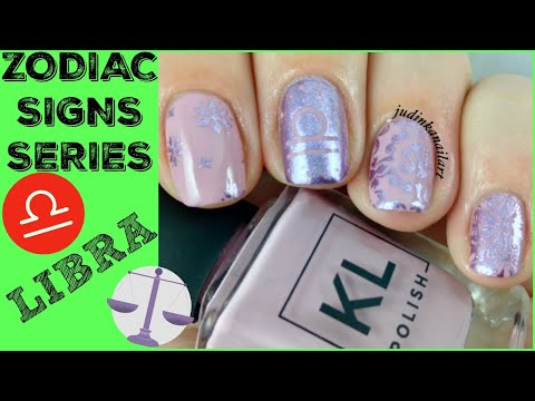 Nail Art Tutorial | Zodiac Signs Series | Libra Stamping Manicure | KL Polish, MoYou London ✓ thumbnail