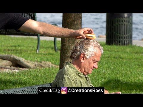 Secretly Putting Cheeseburgers on People's Heads
