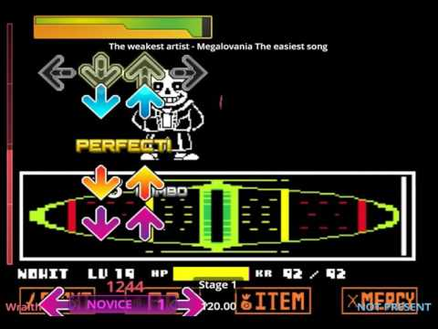 Stepmania 5: Megalovania (Undertale): The easiest song (Difficulty 1) *OLD*
