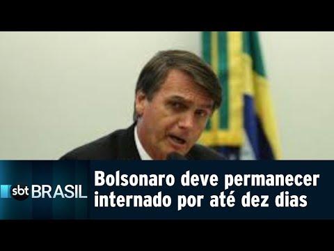 Jair Bolsonaro deve permanecer internado por até 10 dias | SBT Brasil (07/09/18)