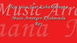 Tere Jaisa Yaar Full Karaoke Yaraana