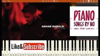 تعليم عزف اغنية ادهم نابلسي هو الحب بيانو - Adham Nabulsi - Howeh El Hob