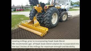 Asphalt Millings with Hawk Seale-Millings Blend