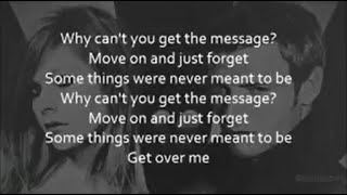 Nick Carter - Get Over Me ft. Avril Lavigne (Lyrics)