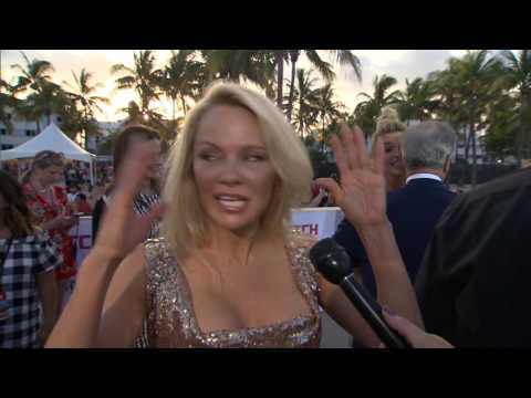 "Baywatch: Pamela Anderson ""Casey Jean Parker"" Red Carpet Premiere Interview"