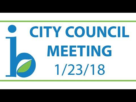 CITY COUNCIL: January 23rd, 2018