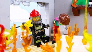 LEGO City Firestation Fail STOP MOTION LEGO City Fireman Rescue! | LEGO City | Billy Bricks