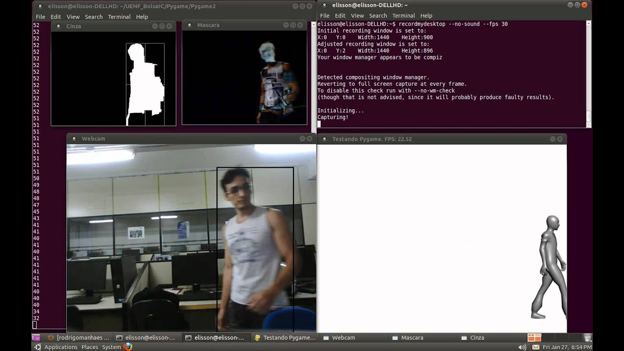 Background Subtraction Tracking : 3 - Pygame OpenCV