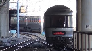 上野駅13番線から札幌へ向かうカシオペアを14番線から撮影しました...