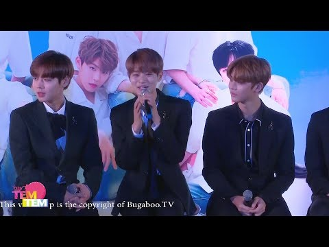 170916 WANNA ONE 1st Fan Meeting in Bangkok : WANNA Be LovEd Press Conference