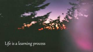 Life is a learning process