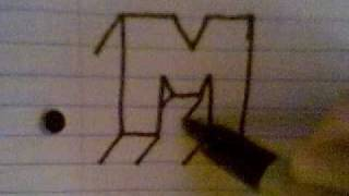 HOW TO DRAW 3D LETTERS ( M )