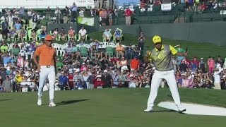 Hideki Matsuyama comes up clutch on the 72nd hole at Waste Management