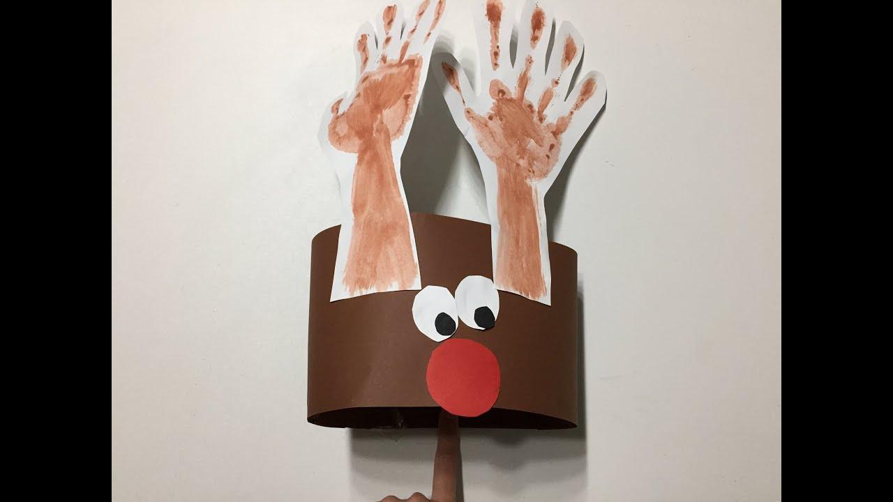Manualidades Navidad para nios Reno YouTube
