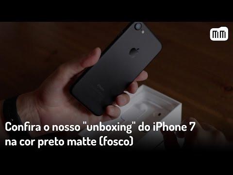 "Confira o nosso ""unboxing"" do iPhone 7 na cor preto matte (fosco)"