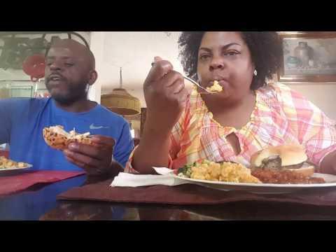 Family(Mukbang)/Hamburger,Broccoli Salad,Mac&Cheese