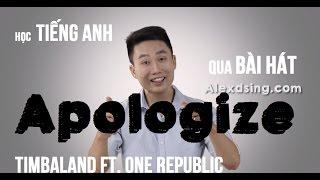 Học tiếng Anh qua bài hát bất hủ | Apologize | Timbaland ft. One Republic