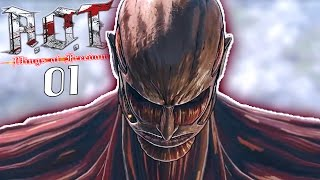 THE COLOSSAL TITAN! | Attack on Titan: Wings of Freedom - Walkthrough Part 1, Gameplay PC
