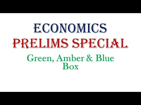 Prelims Special || Green, Amber and Blue Box Subsidy || Economics